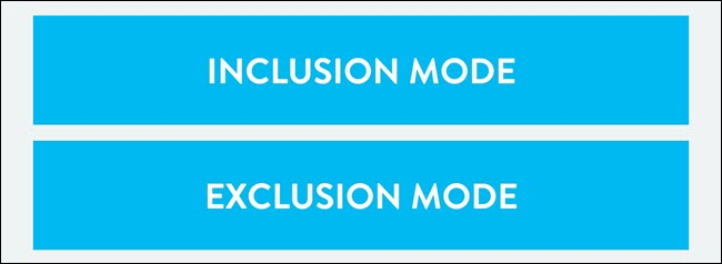 Exclusion Mode