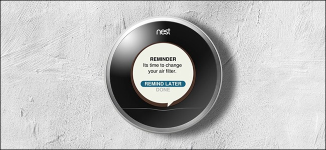 Nest Air Filter Reminder